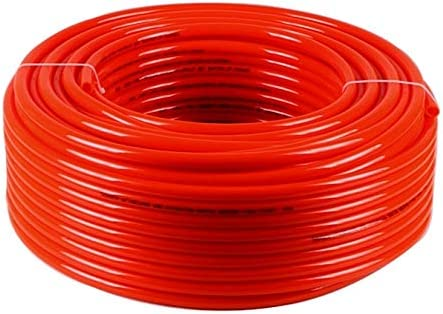 6 x 8mm gas combustibile Air Flex Poliuretano PU Pneumatico Tubo Tubo-Rosso