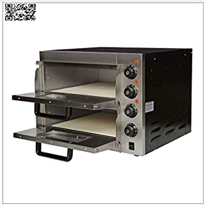 TX 3000W Countertop Pizza Ovens electric Pizza Backen machine Convection Oven with DOUBLE Dedicated Pizza Drawers AND TEMPERATURE CONTROL Stainless Steel (110V/60HZ)