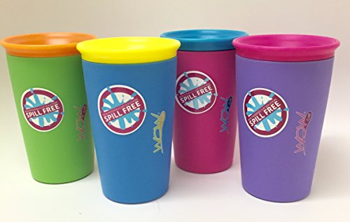 (As Seen on TV Wow Cup, Spill-Proof Cup (4 pack, 4)