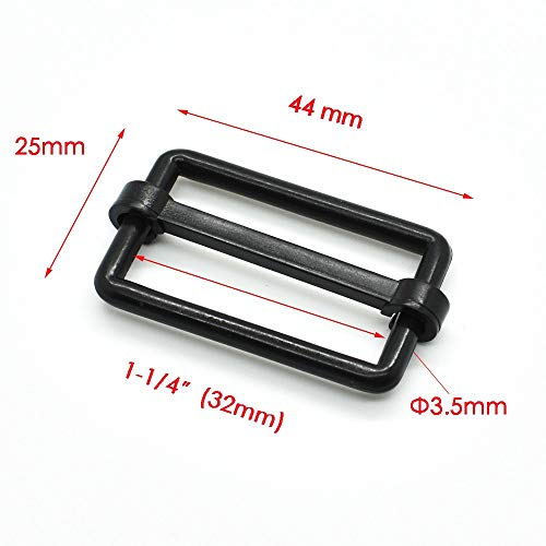 c2a9398ffd7c Baguio-Store - Webbing Size 32mm Plastic Slider Tri Glide Adjust Buckles  For Dog Collar Harness Backpack Straps Black
