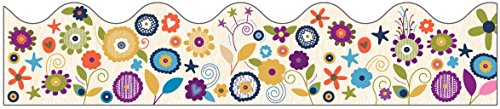 Carson Dellosa You-Nique Flowers Scalloped Borders (108248)