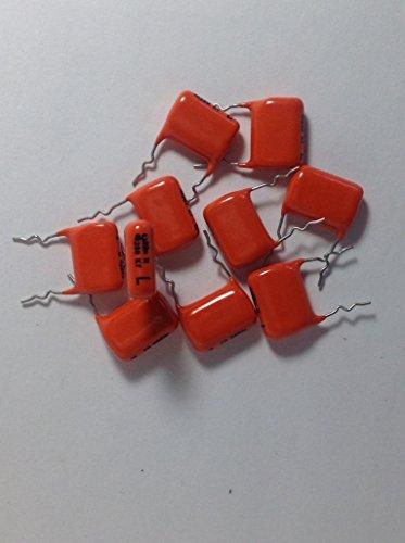 Radial Film Capacitors - 10 pack BC Components .022uf 250v 10% Tolerance KT Type 347 Radial Orange Dipped Mylar Film/Foil Capacitors