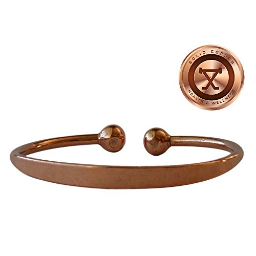 Solid Copper Magnetic Therapy Bracelet Medium 7.5 inch ProExl Gift Box ()