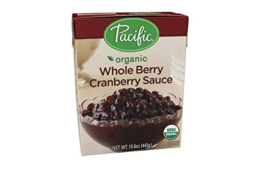 Pacific Foods Organic Whole Berry Cranberry Sauce, 15.6 oz Whole Cranberries
