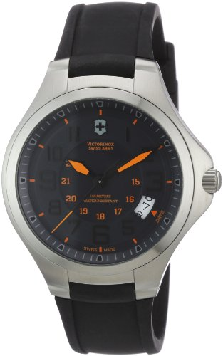 Swiss Army Base - Victorinox Swiss Army Men's 'Base Camp' Swiss Quartz Stainless Steel and Rubber Casual Watch, Color:Black (Model: 241464)