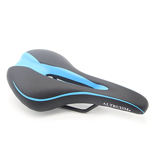 ALTRUISM Sports Bike Saddle Road Mountain Bikes Front Seat Mat Cushion Riding Cycling Supplies MTB Gel Comfort Bicycle Seat Professional Cycling Seats Cushion Pad 2715cm (Black Blue)