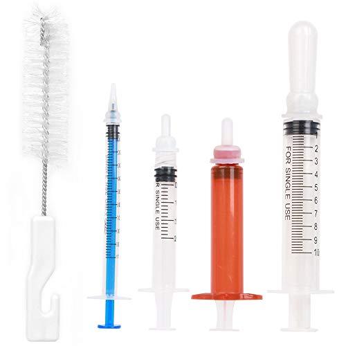 RAIN QUEEN Pet Nursing Bottle Feeding Kit, Nurser Bottle Syringe can Replacement Pacifier Nipples for Kitten Puppy Small Animals Feeding Tool