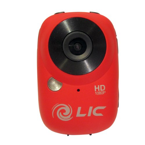 Liquid Image Ego Series 727R Mountable Sport Video Camera with WiFi (Red) ()