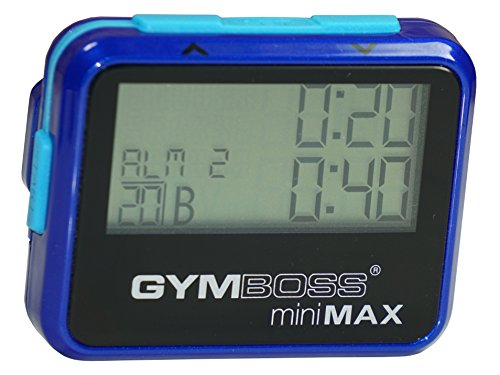 Gymboss miniMAX Interval Timer and Stopwatch - BLUE/BLUE METALLIC GLOSS