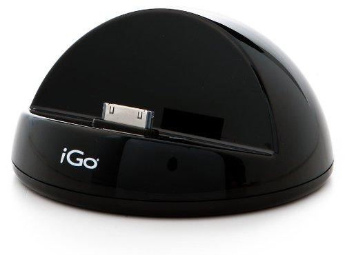 iGo AC05084-0003 Ladestation für Apple iPad 1 & 2 (Spezielles Dock zum Laden samt Schutzhülle) 2,1 Ampere schwarz