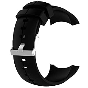 Band for Suunto Spartan Ultra, Replacement Soft Silicone Wristband Strap with Metal Buckle for Suunto Spartan Ultra Watch
