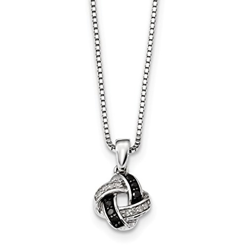- 925 Sterling Silver Black White Diamond Pendant Chain Necklace Charm Fine Jewelry For Women Gift Set