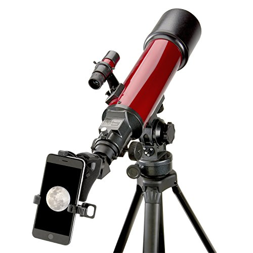 Carson Red Planet Series 25-56x80mm Refractor Telescope with Universal Smartphone Digiscoping Adapter (RP-200SP) (Best Telescope For 200)