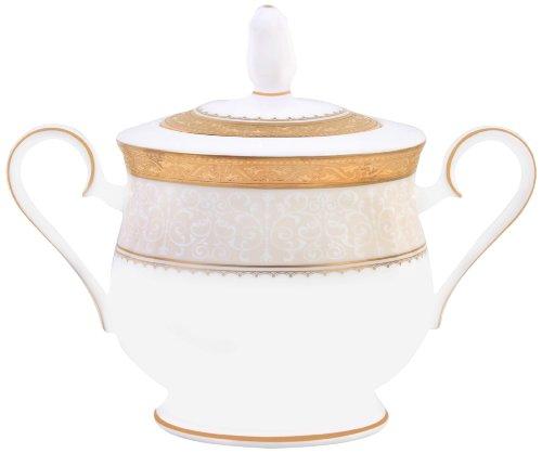 Noritake Odessa 11-1/2-Ounce Sugar Bowl with Cover, Gold