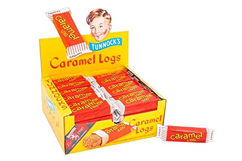Tunnock Chocolate Caramel Logs Wafer with Roasted Coconut 32 g (Pack of -