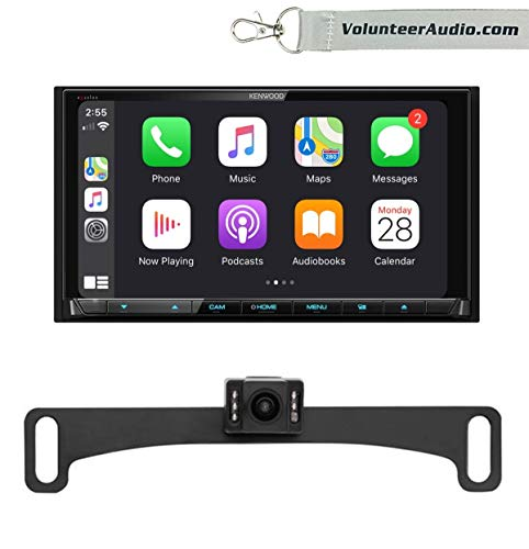 Kenwood DDX9906XR Double Din Touchscreen DVD Receiver Radio With Apple CarPlay, Android Auto, SiriusXM Ready, Reverse Backup Camera Included -  Volunteer Audio, VTL17IR DDX9906XR