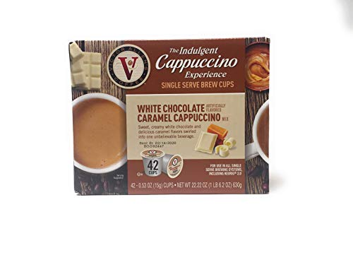 The Indulgent coffee, WHITE CHOCOLATE CARAMEL 42 CUPS, serve brewing Keuing ()