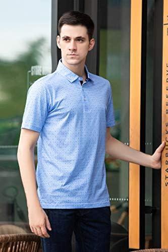 41BzcTZL7yL. AC M MAELREG Men's Mercerized Cotton Short Sleeve Pima Polo Shirts Casual Collared Shirts    Product Description