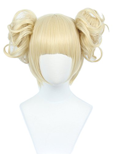 Linfairy Anime Cosplay Wig Short Halloween Costume Hero Wig (blonde (Halloween Toga Costume)