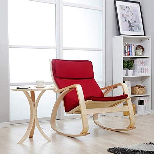 LLSS Chaise berçante Chaise Sieste inclinable pour Adultes Balcon Chaise Longue Fauteuil Salon Chaise berçante Canapé en Tissu