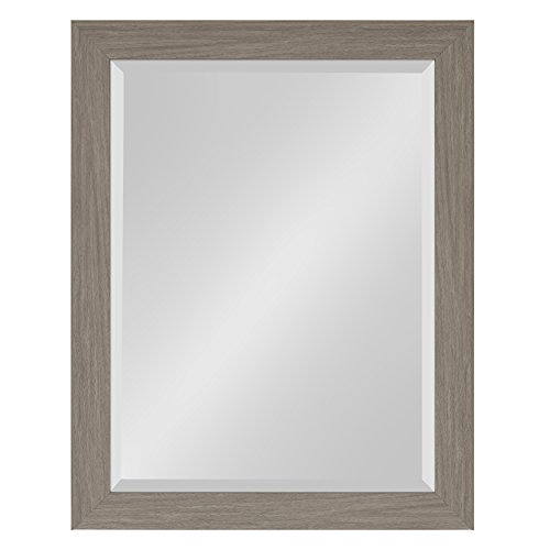 Kate and Laurel Scoop Framed Beveled Wall Mirror, 22x28, - 22 28 Light X
