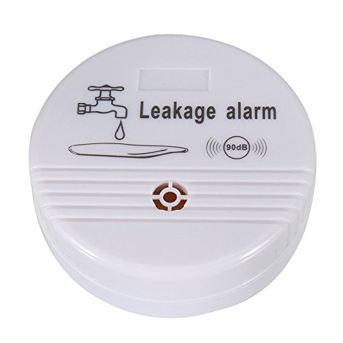 Water Leak Alarm Battery Powered - Leakage Sensor Detector Kitchen Sink Bath Tub Overflow Home Water Safety (1) by Cirbic