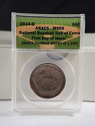 2014 S 50 Cents Baseball Hall of Fame Commemorative PR 69 NGC