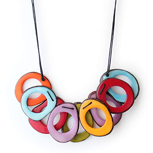 Slices Tagua Necklace in Multicolor