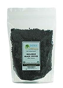 Indus Organics Malabar Black Peppercorns, Refill Bag, 1 Lb, Premium Grade, High Purity, Freshly Packed