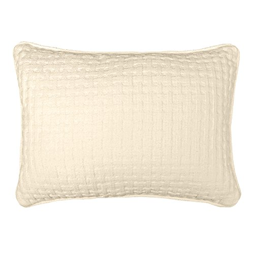 Veratex The Payton Collection U S A  Made 100  Cotton Decorative Bedroom Boudoir Pillow  Ivory