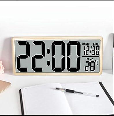WDDqzf Reloj Despertador Digital Grande Jumbo Relojes de Mesa ...