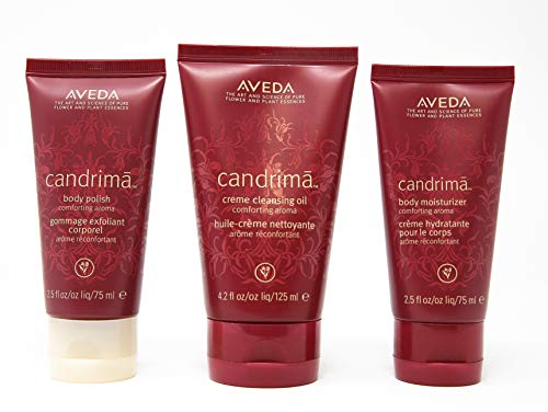 AVEDA CANDRIMA Comfort Gift Set 3 Pieces Cleansing Oil, moisturizer, Body Polish