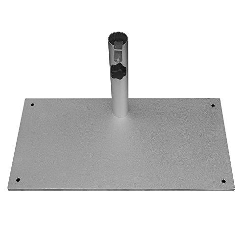 Balkon-Sonnenschirmständer 23 kg aus Stahl Silber für Stammdicken bis 40 mm