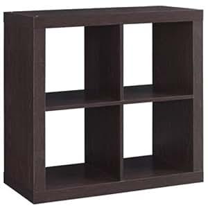 Better Homes And Gardens Bookshelf Square Storage Cabinet 4 Cube Organizer Espresso