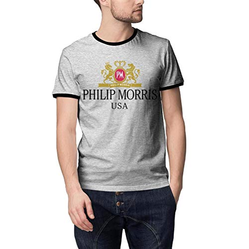Men Funny Philip-Morris-Cigarette-USA-Summer T Shirt