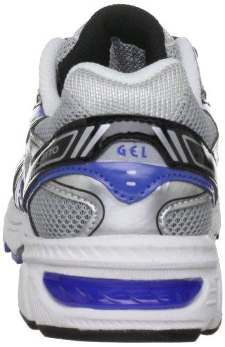 Asics GEL-1170 GS - Zapatillas de correr de material sintético infantil Plata - Silber (Silver/Blue/Black 9342)