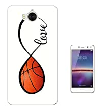 000723 - Love Infinity Love Basketball Design Huawei Y6 (2017) Fashion Trend CASE Gel Rubber Silicone All Edges Protection Case Cover