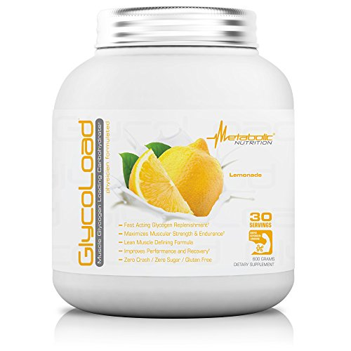 Metabolic Nutrition, Glycoload, 100% Micronized Cyclic Cluster Dextrin Carbohydrate Powder, Muscle Glycogen Loading Carbohydrate, Pre Intra Post Workout Supplement, Lemonade, 600 gm (30 ser)