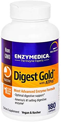 Enzymedica, Digest Gold + ATPro, Digestive Enzymes, 180 Capsules (FFP)