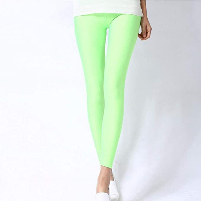 Leggings para mujer de color verde neón