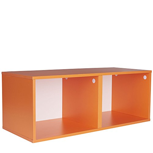 Household Essentials 8006-1 Modular Double Cube Storage Cubby | Orange by Household Essentials