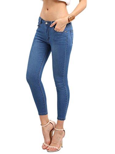 SOLY HUX Jeans Elasticos con Bolsillos - Azul XXS-L Azul