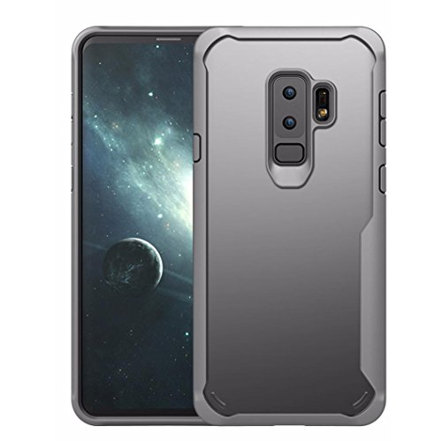 Price comparison product image MChoice Hybrid Rugged Rubber Protective Case Cover For Samsung Galaxy S9 Plus 6.2inch (Gray)