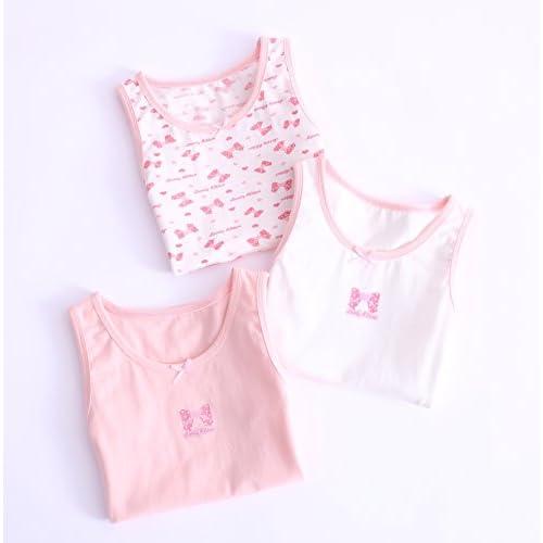 Zegoo Girls 3-Pack Butterfly Print Tagless Cami Super Soft Cotton Tank Tops