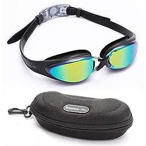 Gafas de Natación - Gafas de Lentes de Colores - Herméticas - Ajustables - Gafas de Natación Expertas Para Adultos, Hombres, Mujeres y Jóvenes Incluye ...