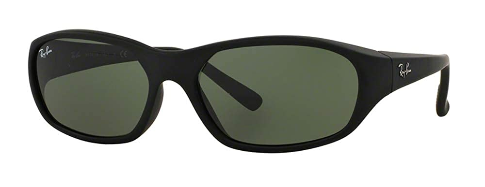 4c780acfd0f Amazon.com  Ray-Ban RB2016 DADDY-O W2578 59M Matte Black Green Sunglasses  For Men For Women  Clothing