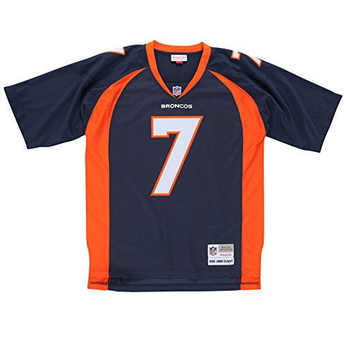 John Elway Denver Broncos Navy Throwback Jersey Large
