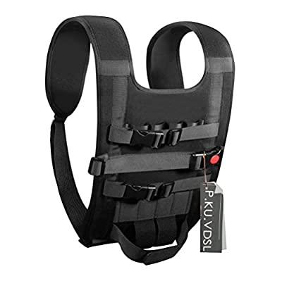 P.KU.VDSL® Light Carrying Vest, Easy Backpack Carrying Case, Portable Shoulders Bag, Shoulder Neck Strap Belt For DJI Panthom 2/3 FC40 Vision, Available For Quadcopter, Remote Controller, Battery, Propellers