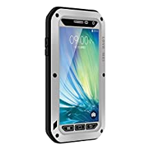 Waterproof Case for Galaxy A5,Shockproof Waterproof Dust Proof Love Mei Aluminum Metal Gorilla Glass Protection Hybrid Hard Powerful Case For Samsung Galaxy A5 (Silver)