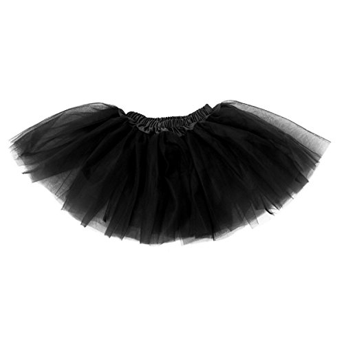 Buenos Ninos Girl's Tutu Assorted Colors One Size (Black)
